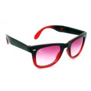 Clark N' Palmer Wayfarer Sunglasses(Pink, Clear)