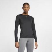 Nike Maglia in mesh a manica lunga Nike Pro - Donna - Nero