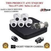 Dahua 1.3 MP HDCVI 8CH DVR + Bullet Camera 2Pcs and Dome Camera 5Pcs CCTV Combo