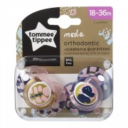 Suzeta ortodontica Moda Tommee Tippee 2 buc 18-36 luni Fluture Roz