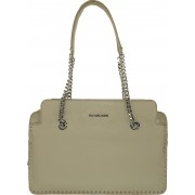 Geanta Michael Kors Astor Leather Satchel 30T6SATS3L Grey Large