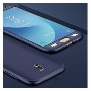 Комплект кейс 360° + стъклен протектор за Samsung Galaxy J3 (2017) (СИН - МАТ)