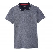 SCHOTT Poloshirt PS Ray mit Logo und Kontrast-Kragen