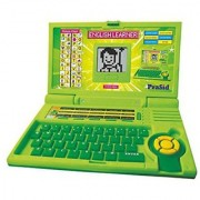 Bubbly Giggles Ben 10 Educational Computer ABC and 123 Learning Kids Laptop with LED Display and Music (Green)
