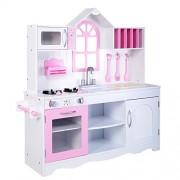 Giantex Kids Wood Kitchen Toy Cooking Pretend Play Set Toddler Wooden Playset