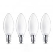 Philips Pack 4 Lâmpadas LED Vela 4.3W E14 Branco Quente