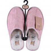 Apollo Warme sloffen/pantoffels roze voor dames 37-38 - Sloffen - volwassenen