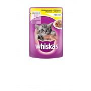 Котешка храна за малки котета Whiskas Pouch пилешко, 6 броя х 100 г