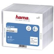 "Hama Boitier ""Slim"" pour 4 CD (x10) Transparent"