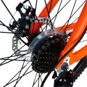 Bicicleta MTB-HT 24 Velors V2456A cadru aluminiu portocaliu alb