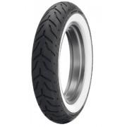 Dunlop D 408 F H/D WWW ( 130/90B16 TL 67H fehérfalú, white wall gumi, wide white wall, M/C, Első kerék )