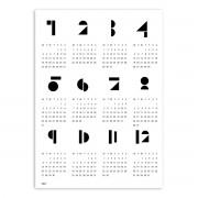 Connox Collection - Toyblocks Kalender 2021, weiß, 50 x 70 cm