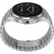 Smart Watch Vector Luna carcasa rotunda argintie si bratara metalica