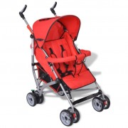 vidaXL Contemporary Baby Toddler Travel Baby Buggy Infant 5-Position Red