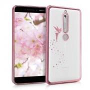 kwmobile Przezroczyste etui z wzorem wróżka dla Nokia 6.1 - różowy