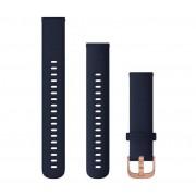 Garmin Bracelets à dégagement rapide Garmin (18 mm) - Bleu Nuit/Or Rose