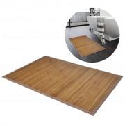 vidaXL Tapetes casa de banho, bambu 2 pcs 40 x 50 cm castanho