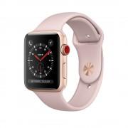 Умные часы Apple Watch Series 3 Cellular 42mm Gold Aluminum Case with Pink Sand Sport Band MQK32 (Спортивный ремешок цвета розовый песок)