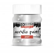 Pentart Metál ezüst színű akril bázisú hobbi festék 230 ml
