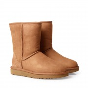 UGG Classic Short boots i fårskinn, Cognac, 6