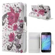 Кожен калъф с цветна апликация за Samsung Galaxy J1 / J1 4G