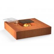 Adezz Forno vuurtafel vierkant Cortenstaal 120 cm met grill