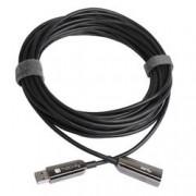 Techly Cavo USB 3.0 SuperSpeed AOC in Fibra Ottica USB A M/F 20m Nero