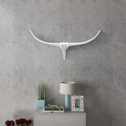 vidaXL Декоративна алуминиева глава на бик за стена, сребриста, 62 см