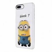 Husa Silicon Transparent Slim Minion Whaaat Huawei Honor 4C G Play Mini