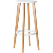 Paperflow Bar Stools Woody White 2 Pieces