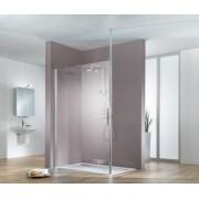 Schulte Home Paroi de douche fixe à l'italienne Walk In Solo light Fix, 90 cm, transparent, anticalcaire