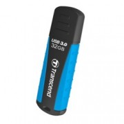 32GB USB Flash Drive, Transcend JetFalsh 810, USB 3.0, черна/синя