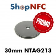 Tag NFC Ntag213 IP66 30mm in ABS forati
