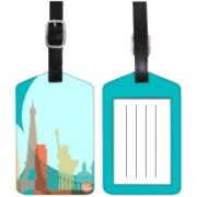Nutcaseshop WORLD AND CITIES Luggage Tag(Multicolor)