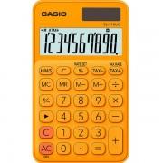 Calcolatrice tascabile Casio SL-310UC - 939154 Calcolatrice a 10 cifre di dimensioni 7 X 0,8 X 11 cm dal peso di 0,05 kg con alimentazione solare/batteria di colore arancione in confezione da 1 Pz.