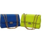 FAMOSO Green, Blue Sling Bag