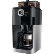 Cafetiera Philips Grind & Brew HD7769/00, 1000W, 1.2l, Rasnita de cafea integrata, LCD (Negru/Metalic)