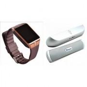 Zemini DZ09 Smartwatch and B 13 Bluetooth Speaker for SAMSUNG GALAXY CORE PRIME VE(DZ09 Smart Watch With 4G Sim Card Memory Card| B 13 Bluetooth Speaker)