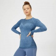 Myprotein Inspire Seamless Long-Sleeve Top - S - Soft Blue