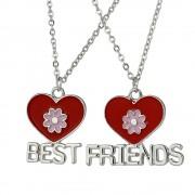 Set 2 Lantisoare Cu Pandantive Best Friends BFF Inimi