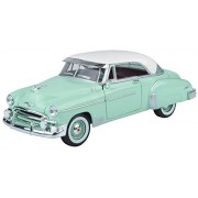 Motormax 1:24 1950 Chevy Bel Air (American Classic Diecast Collection) (White/Light Emerald Green)