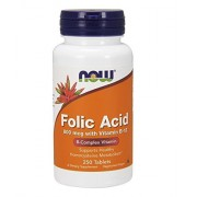 Folic Acid 800mcg with Vitamin B12 250 tabs