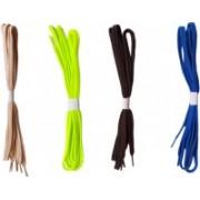 DE'MODA Flat (Pack of 4-Beige,Neongreen,Black,Blue) Shoe Lace(Beige, Neon green, Black, Blue Set of 4)