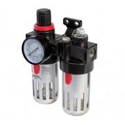 Silverline Filtro Regolatore Con Lubrificatore Per Aria Compressa 150 Ml