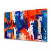 Tablou Canvas Premium Abstract Multicolor Albastru Rosu Alb 1 Decoratiuni Moderne pentru Casa 80 x 160 cm
