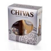 Chivas Regal 12 YO Blended Malts Scotch Whisky 0.70 Lt + 2 pahare