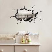 Sticker decorativ de perete Wall 3D, 259DWL1001, 80 x 45 cm