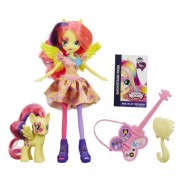 Hasbro My Little Pony Equestria Girls Fluttershy Doll and Pony Set