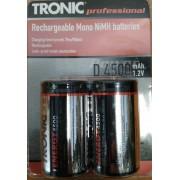 """Acumulator TRONIC Professional """"D (LR20) 4500mAh -Set 2 buc."""