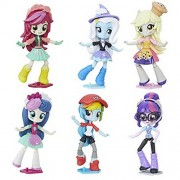 Set of 6: My Little Pony Equestria Girls Mall Collection - Sweetie Drops, Trixie, Muffins, Roseluck, Twilight Sparkle, Rainbow Dash